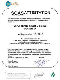 Zertifiziert nach SQAS
